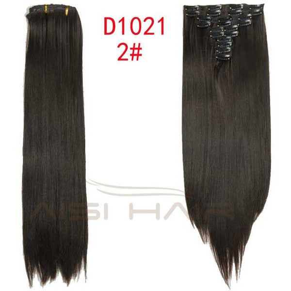"24""- 10 pcs Set  Clip in Hair Extensions Straight"