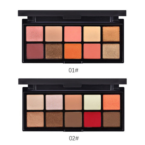 10 Colours  Matte Eye Shadow Palette Long Lasting
