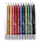 12 Colours Set Eyeliner Pencil