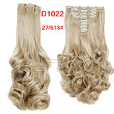 "16Colors Clip in Hair Extensions 8pcs/set 22"" Wavy"