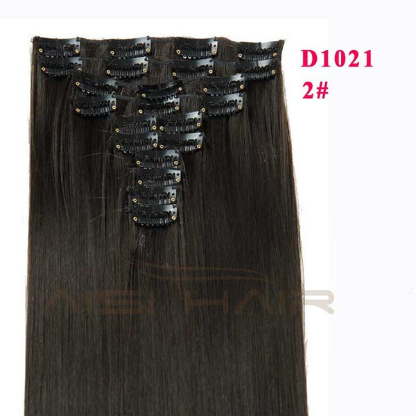 Synthetic Clip in Hair Extension Long Straight Hairpiece 10pcs/set 22 Clips 160g