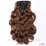 "20"" -  7 Pieces Synthetic  Clip in Hair Extensions"