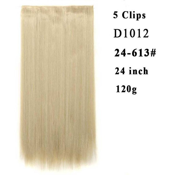 "24"" - 1 piece  Synthetic  5 Clip in Hair Extensions"
