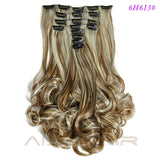 "19"" -  8 pcs Set 16 Colours -  Synthetic Clip in Hair Extensions"
