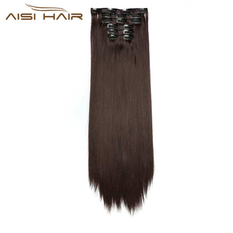 "24""  / 6 Pieces 140 g -  Clip in Hair Extensions Straight"