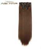 "24"" -  6 Pieces -  Synthetic Clip in Extensions Straigth"