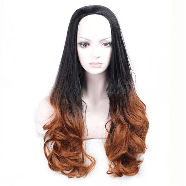 Long Wavy Wig High Temperature Ombre'
