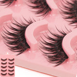 Learnever Makeup 5 Pairs/set Natural Long Fake Eye Lashes Handmade Thick False Eyelashes Black False Fake Eyelash Extension Kits