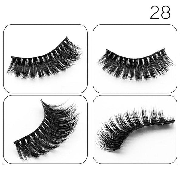 Learnever 1 Pair 3D Mink Lashes Eyelash Extension Long Thick False Eyelashes Eyelashes Black Pure Hand-made For Beauty EYE