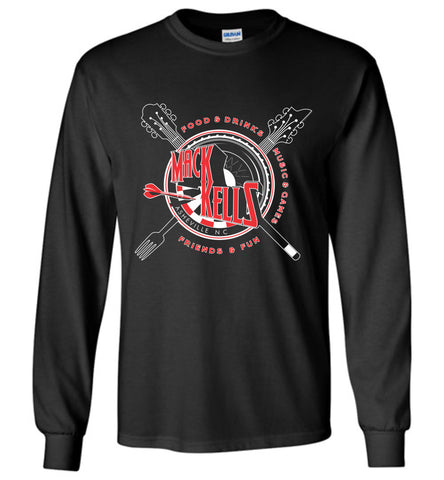Long Sleeve T-Shirts - Adult - Unisex - Macks Kells Bar And Grill - Official Gear