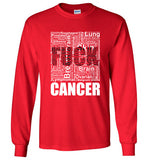 Long Sleeve T-shirts - Adult - Unisex - F**K CANCER - Word Cloud