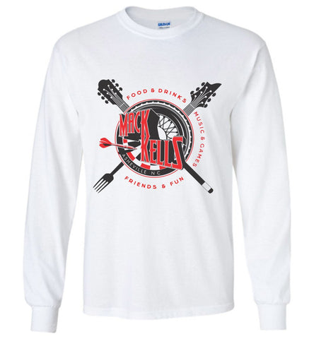 Long Sleeve T-Shirts - Youth - Unisex - Macks Kells Bar And Grill - Official Gear