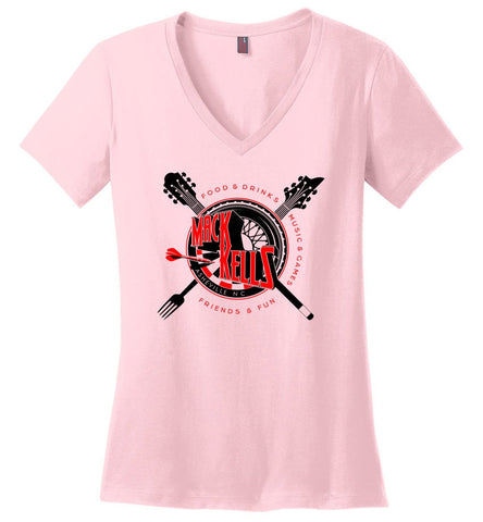 Short Sleeve V-Neck - Ladies - Macks Kells Bar and Grill - Official Gear