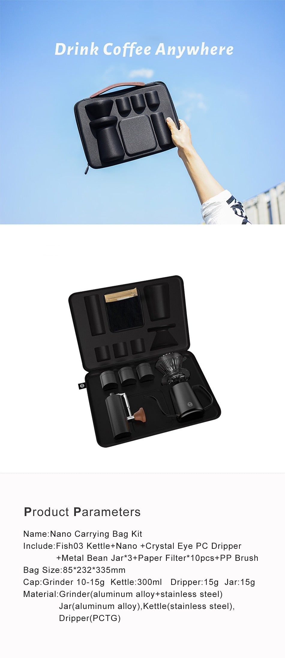 Portable Coffee Brewers Gift Box Set
