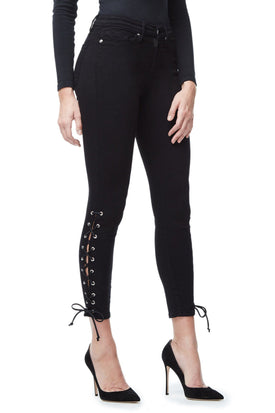 GOOD LEGS CROP LACE UP | BLACK001