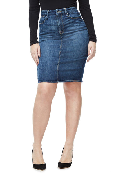 GOOD AMERICAN THE PENCIL | BLUE046 JEAN