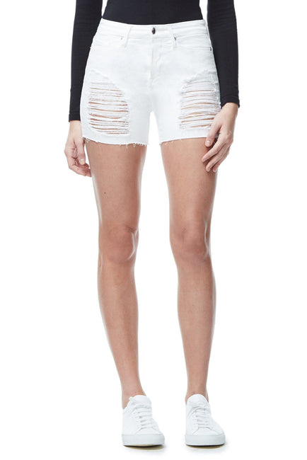 Good American Ripped Cut-Offs White004