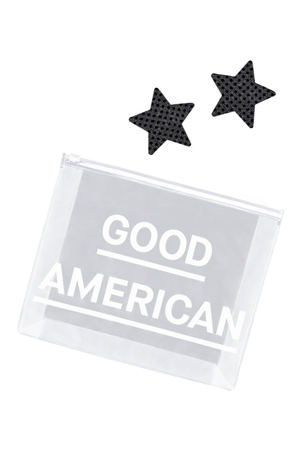 Good American The Velvet Crop Set | Black001