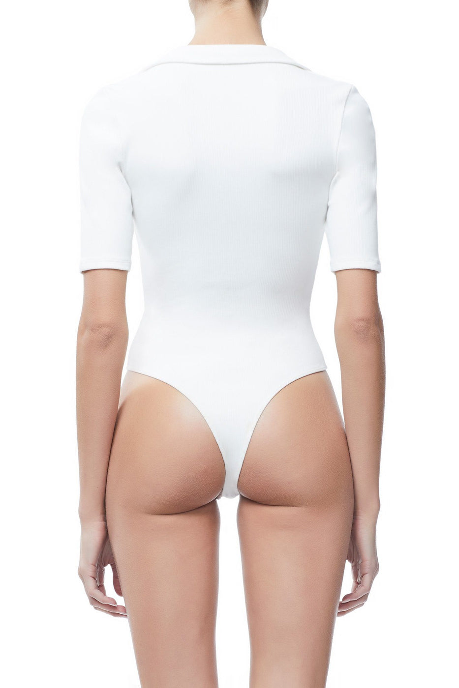 THE RIBBED MOCKNECK BODY | WHITE001
