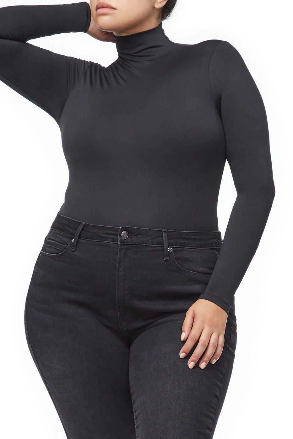 THE MOCK NECK BODY | BLACK001