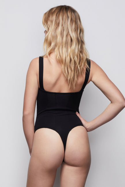 THE CONTOURED BODYSUIT | BLACK001