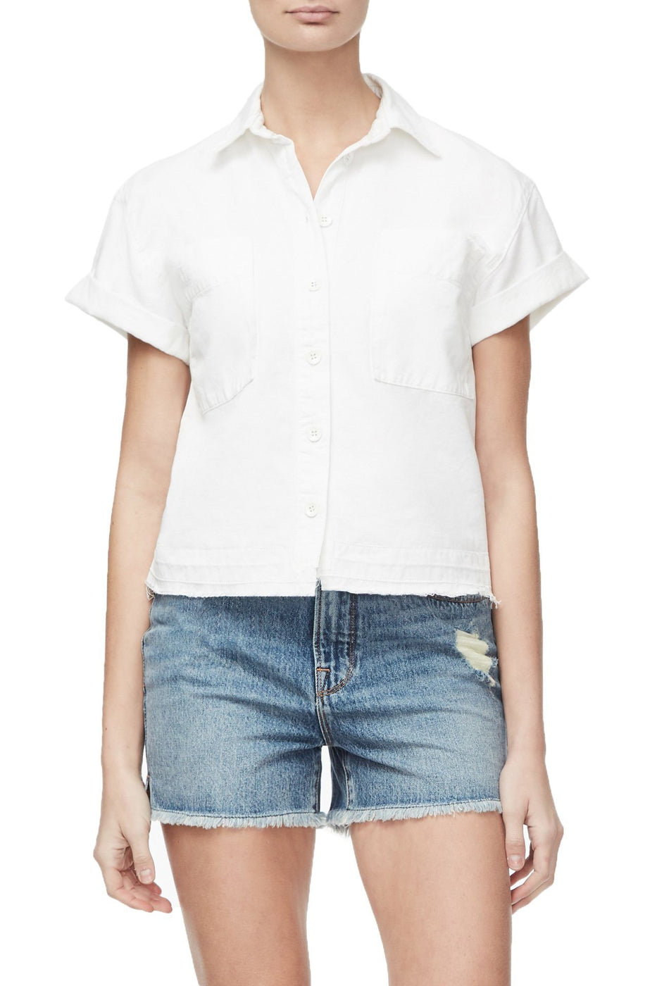 THE BOXY BUTTON DOWN | WHITE001