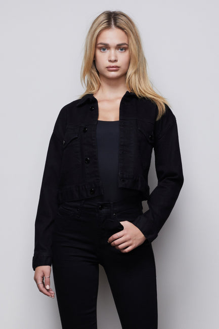 CROPPED JACKET | BLACK001