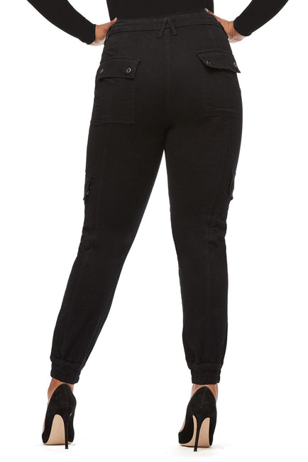 Good American High Waisted Cargo Black032 Jeans