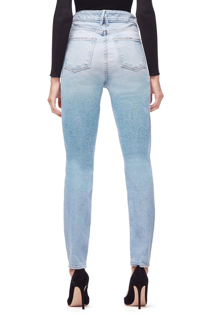 Good American Super High Waisted Skinny Blue191 Jeans