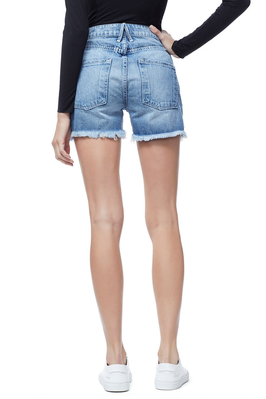Good American The Cut-Out Cut-Offs | Blue173