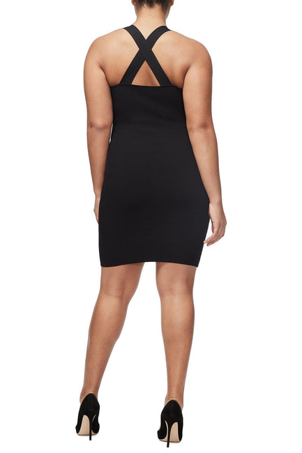 THE PIN-UP KNIT DRESS | BLACK001