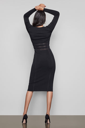 THE LOW DOWN KNIT DRESS | BLACK001