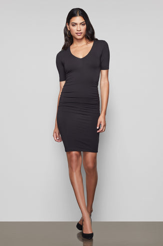THE LOW DOWN MINI DRESS | BLACK001