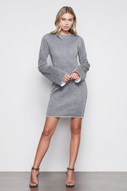 ALL THAT GLITTERS MINI BODY DRESS | SILVER001