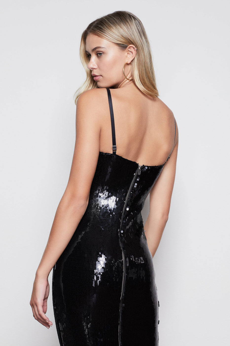 TWILIGHT SEQUIN BODY DRESS | BLACK001
