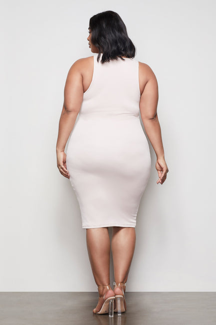 THE BODY SCULPTED MIDI DRESS | HONEY001
