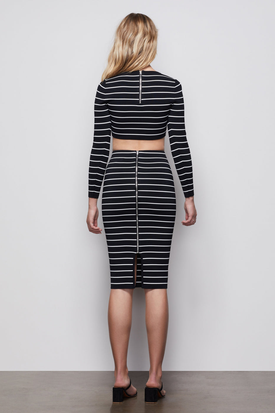 THE HIGH LINE MIDI SKIRT | STRIPE001
