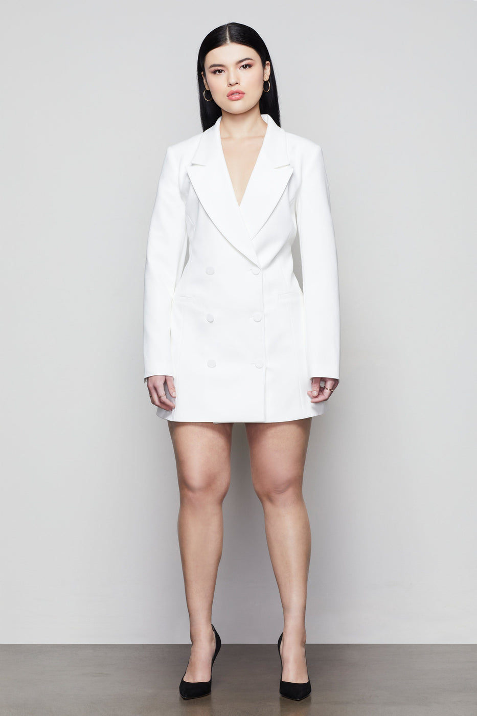 THE EXEC BLAZER DRESS | IVORY001