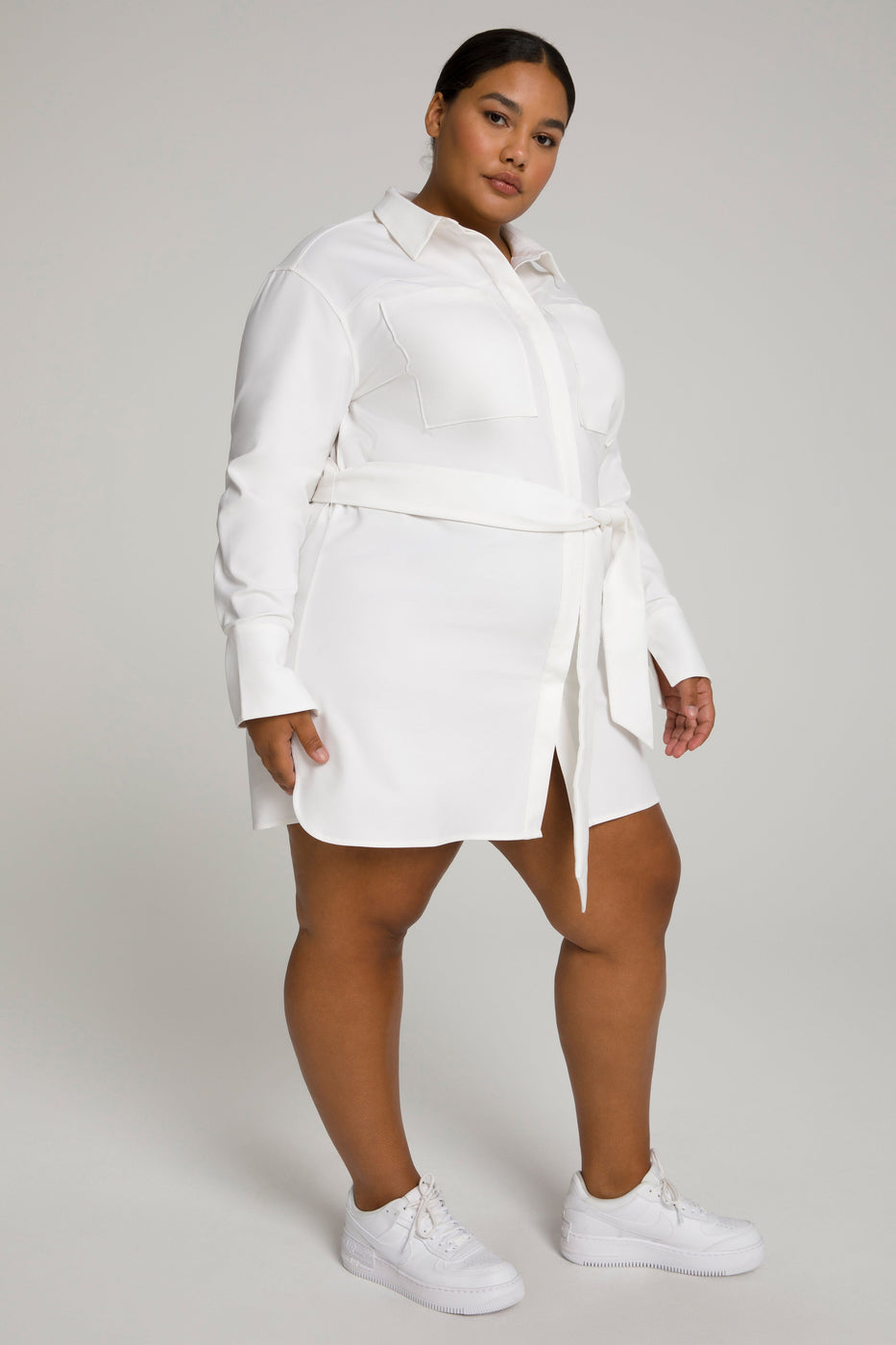 COMMITTED TO FIT DRESS | WHITE001