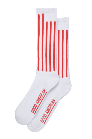 GOODIES FLAG SOCKS | WHITE001