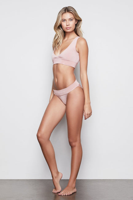 MEDIUM IMPACT BANDED BIKINI | BLUSH001