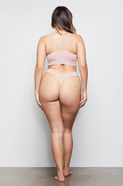 MEDIUM IMPACT BANDED THONG | BLUSH001