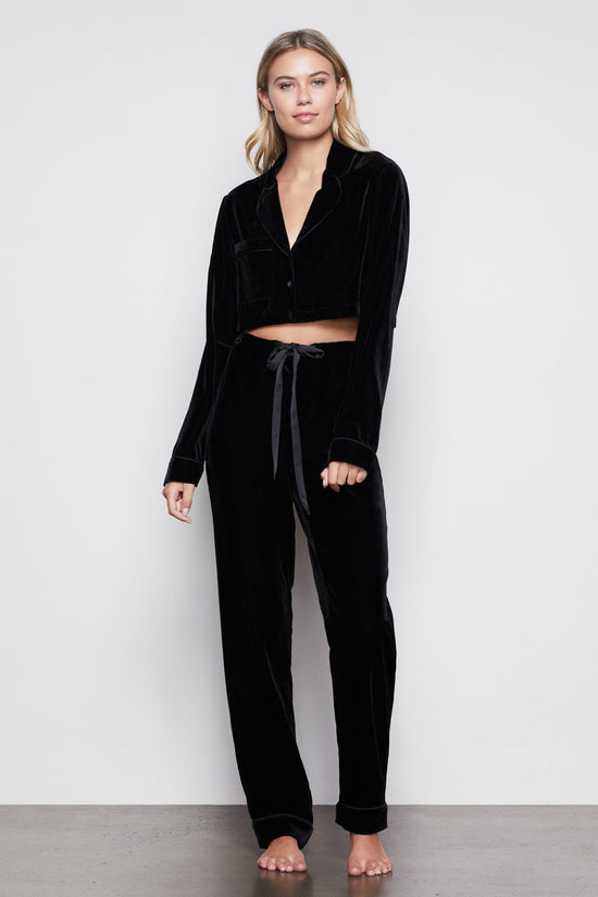 THE VELVET PJS | BLACK001