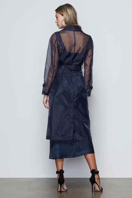 OFF DUTY ORGANZA TRENCH | NAVY001