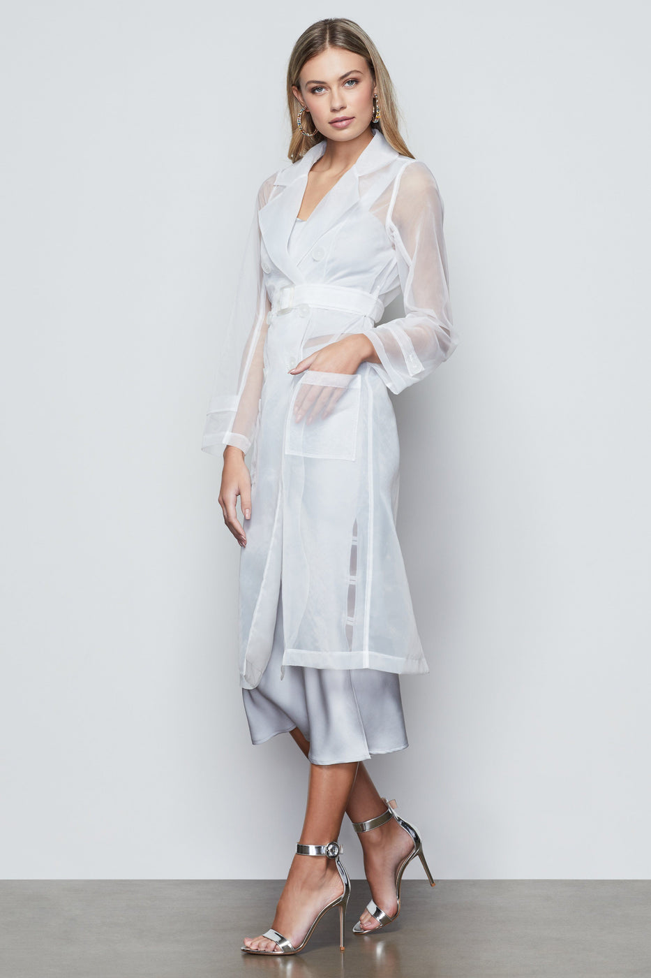 OFF DUTY ORGANZA TRENCH | WHITE001