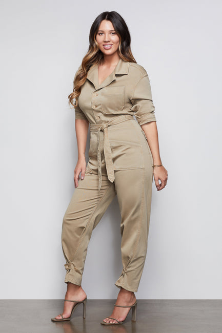 THE ON DUTY JUMPSUIT | KHAKI003