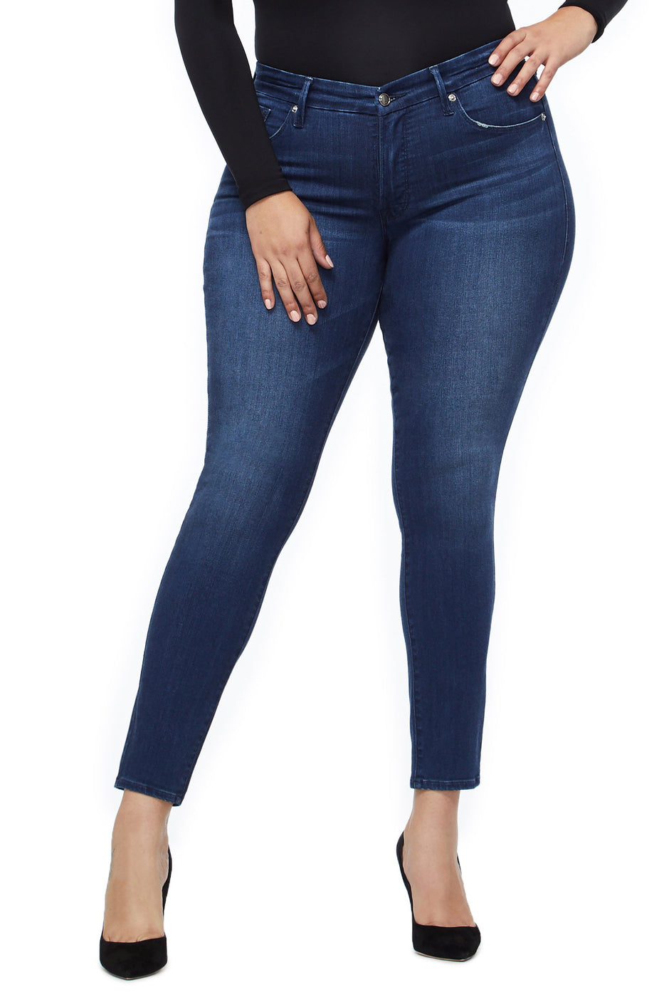 Good American High Waisted Blue211 Jeans