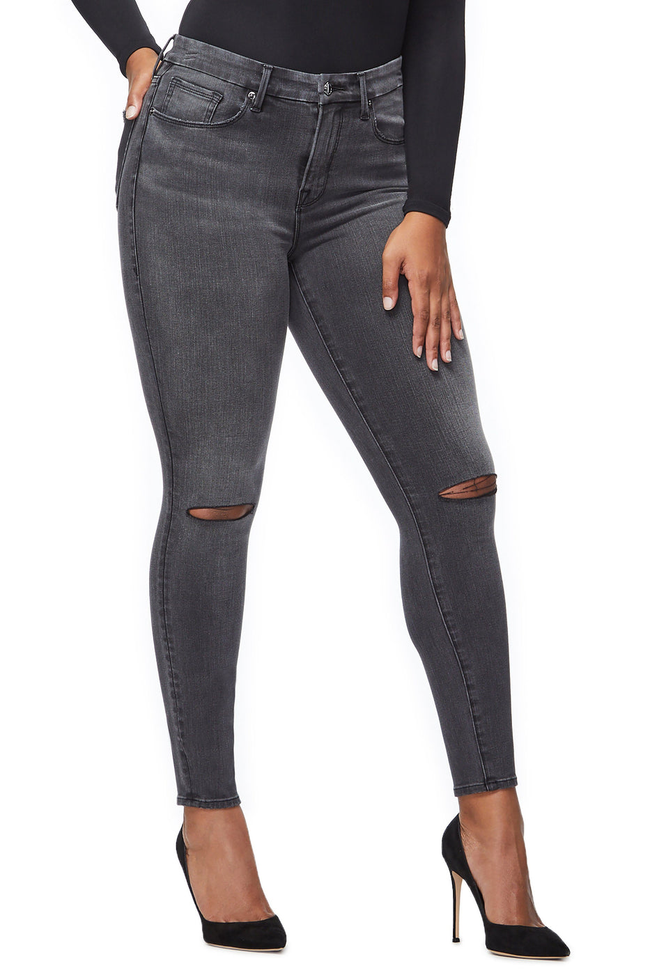 Good American Ripped Black039 Jeans