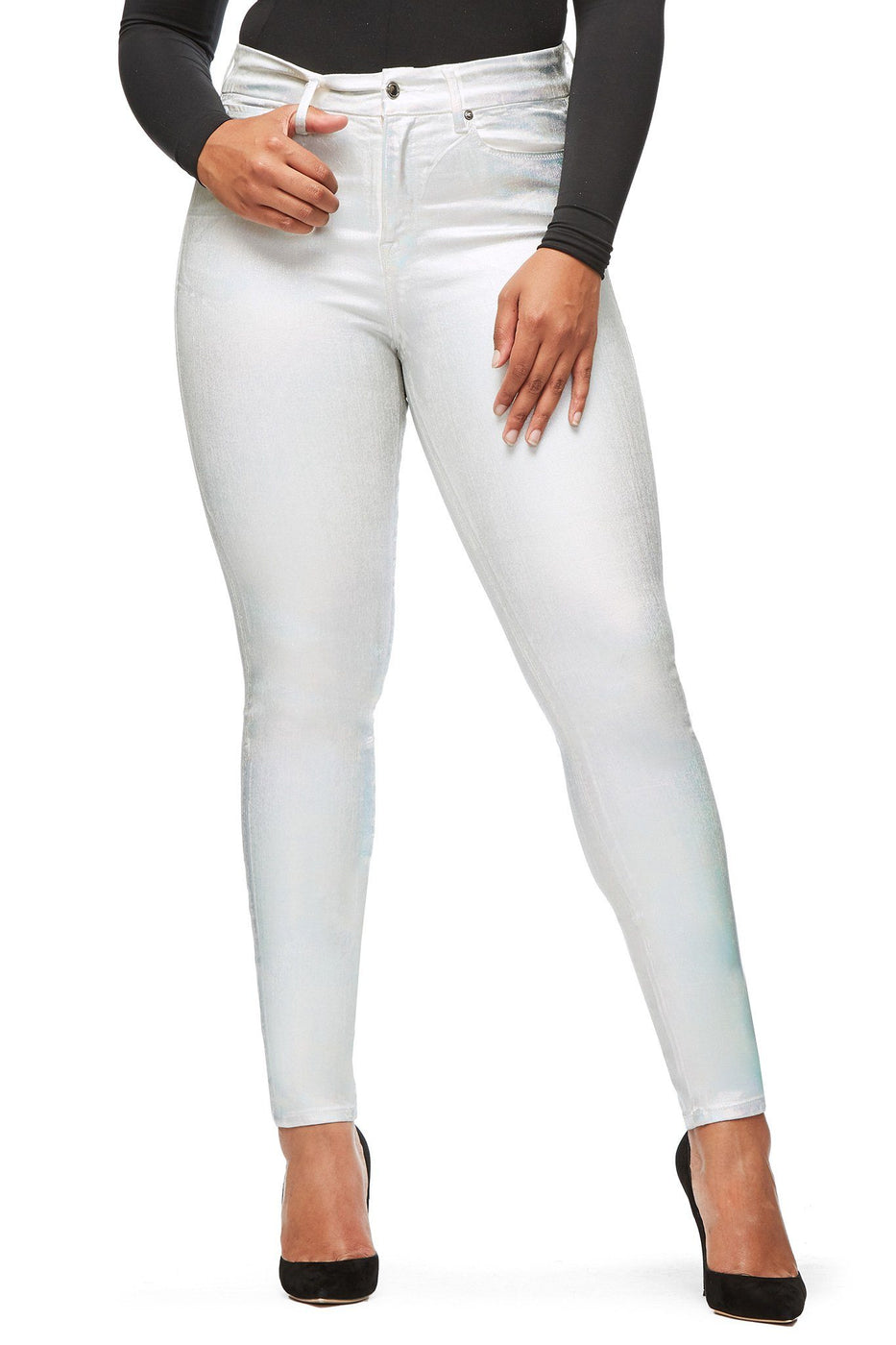 Good American High Waisted Iridescent001 Jeans