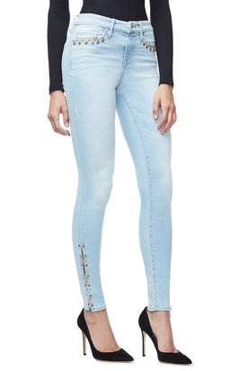 GOOD LEGS CHAIN LACE UP | BLUE112